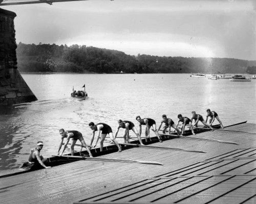 I love crew! I miss the rhythmic sounds of the oars turning in the oar locks, the to and fro song of seats sliding on their tracks, and the way the end of the oars cutting into the water!