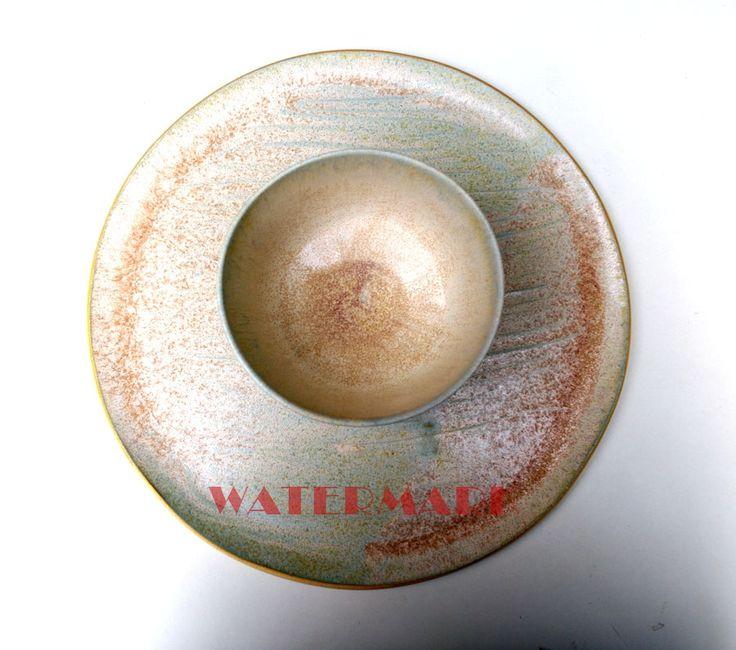 Błękit z piaskiem.ceramika, rękodzieło, artystyczna, szkliwo, hand made, prezent, Ceramics, bowl, plate, chips