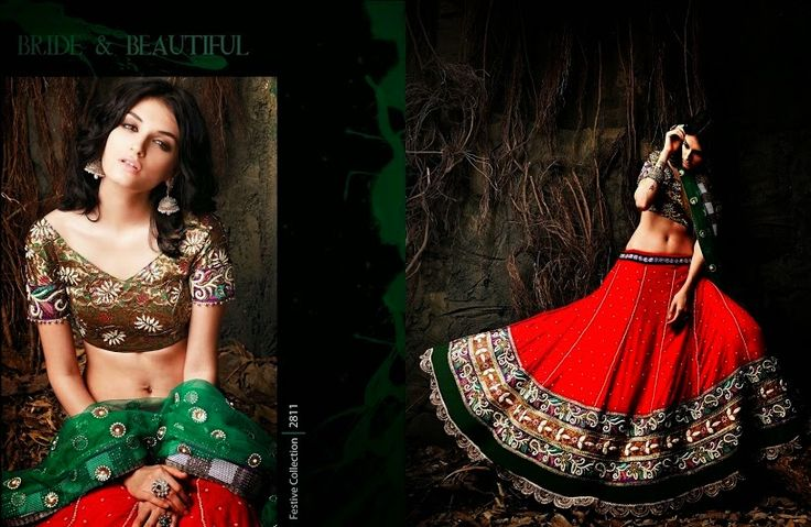 Beautiful collection of Velvet Wedding Lehenga with heavy embroidery work en-crafted in Red and Copper color. Along with Contrast Matching Netted Duppatta and Blouse.