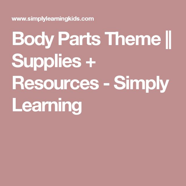 Body Parts Theme || Supplies + Resources - Simply Learning