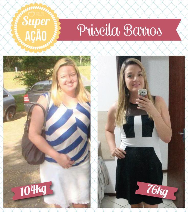 Superação Priscila Barros - Blog da Mimis - Ela conseguiu eliminar quase 30Kg com simples mudanças de hábitos.