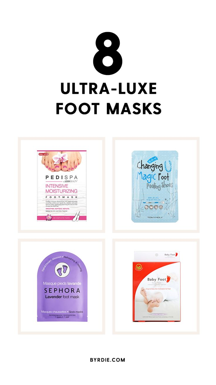 The best foot masks for dry skin