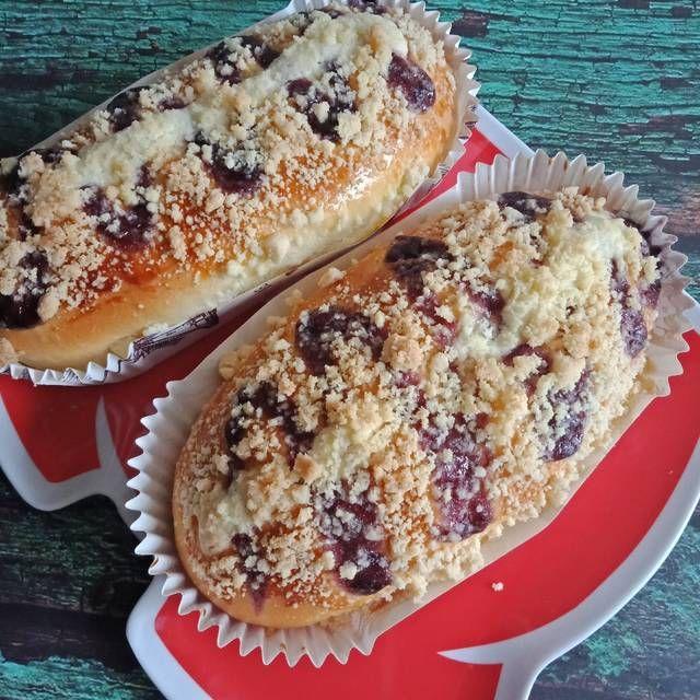 Resep Blueberry Streusel Bread Aka Roti Manis Blueberry Crumble Perfect Oleh Tintin Rayner Resep Resep Blueberry Roti