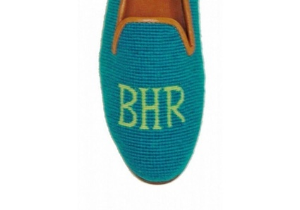 monogram needlepoint shoes