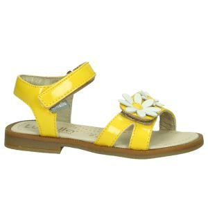 Lunella Gele Sandalen met Bloemen