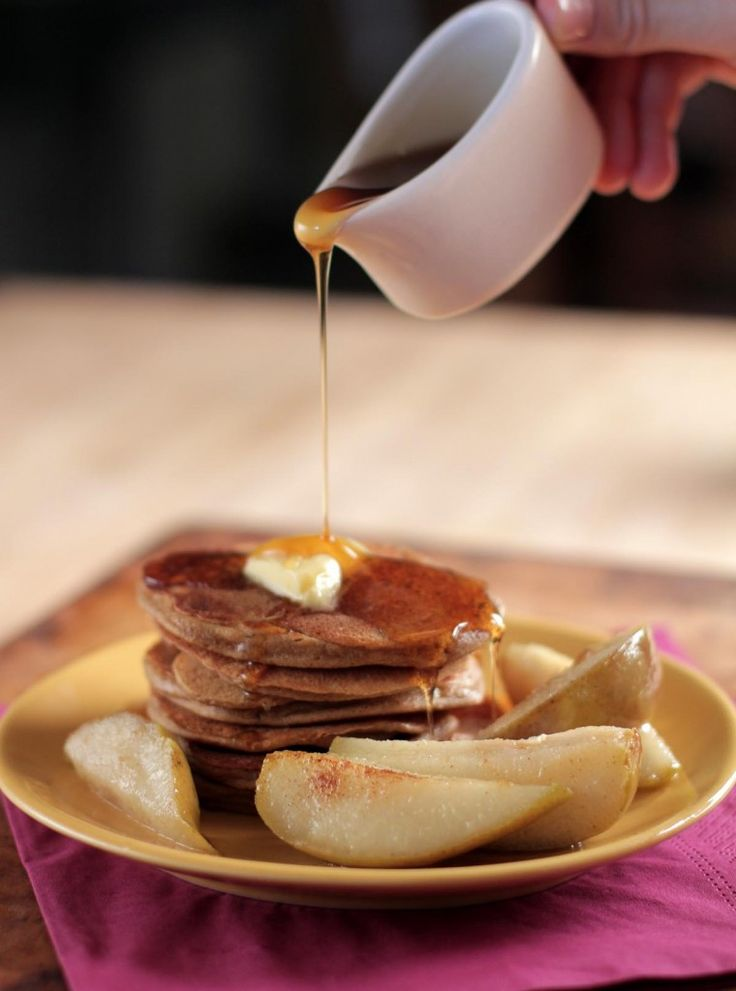Gingerbread Pancakes with Sauteed Pears | Live Simply