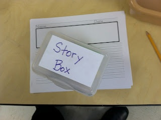 Story Box. Great way to inspire ideas for writing by @sxwiley #kinderhcat: Center Ideas, Schools Ideas, Inspiration Ideas, Classroom Secret, Preschool Ideas, Stories Writing, Stories Boxes, Classroom Creative, English Ideas