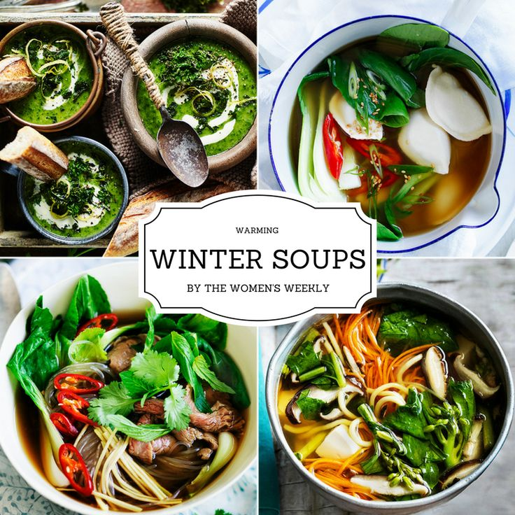 Be inspired by the Australian Women's Weekly soup recipes - they're just perfect for warming you up this winter. You'll find everything from retro Weekly classics like chicken and corn soup to hearty vegetable dishes and Asian-style favourites.