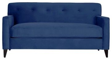Harrison Apartment Size Sofa, Blueberry - modern - Sofas - Apt2B