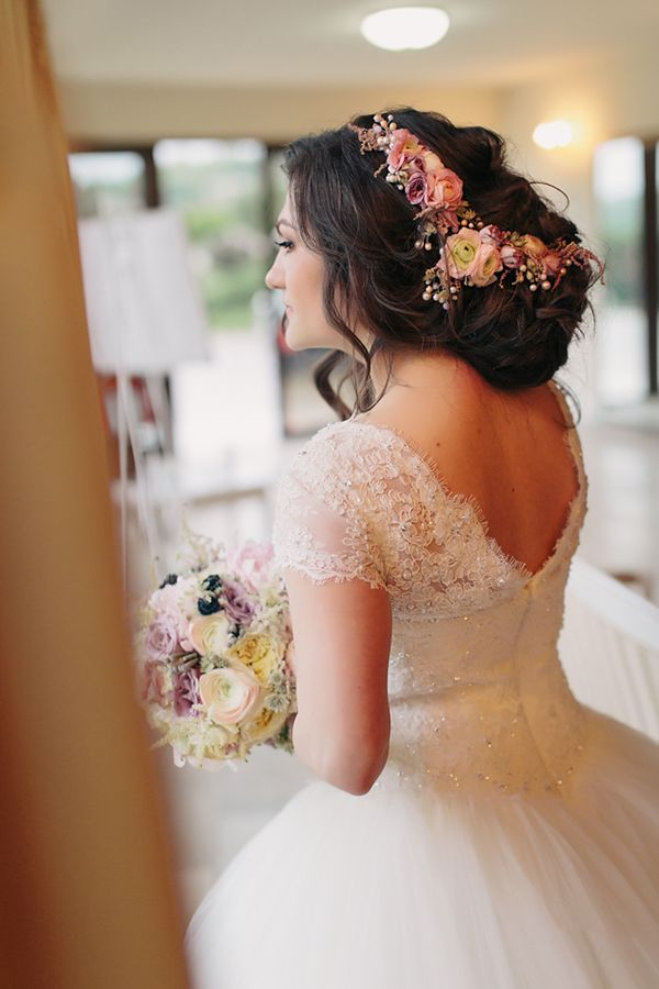 She comes with flowers in her hair - Bride handmade accesories by Anda Handmade Romanian Crafts