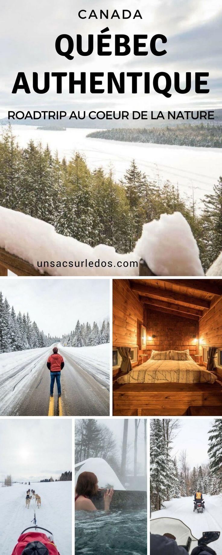 Sans doute une des plus belles régions du Québec : le Québec Authentique. Voici nos découvertes dans les régions de Mauricie et Lanaudière, ainsi que des idées d'activités pour profiter de l'hiver. Autant vous dire tout de suite, il y a de beaux coups de cœur en perspective! #Canada #Quebec #QuebexAuthentique #authentique #Mauricie #Lanaudiere #hiver #neige #chien #traineau #traineauachien #chiendetraineau #motoneige #skidoo #spa #chalet #cabane #lac #foret #nature