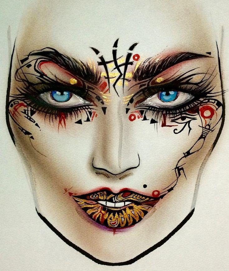 Best 25 makeup drawing ideas on pinterest eye drawings makeup moscow mac smolensky passage makeupartist facechartartist art sxmilk1422gmail makeup drawingface ccuart Images