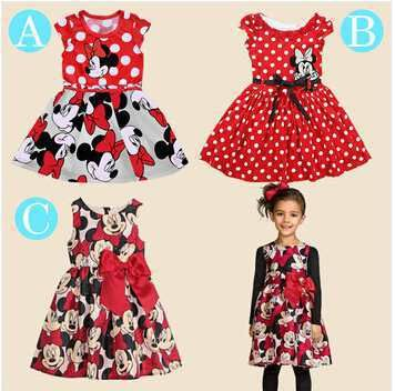 Free shopping 2015 New summer dress Minnie Mouse Dress girls clothes printing dot sleeveless dress dress girl fashion #>=#>=#>=#>=#> Click on the pin to check out discount price, color, size, shipping, etc. Save and like it!