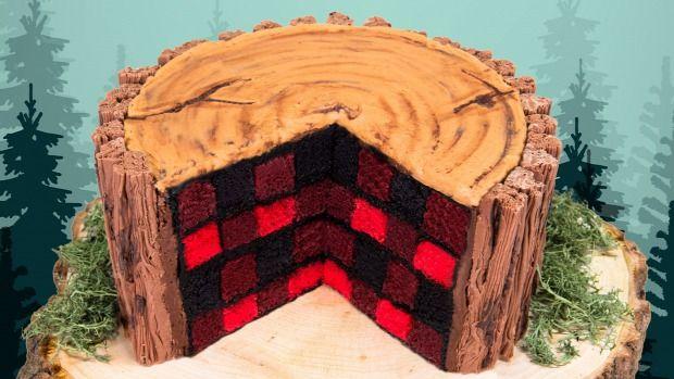 videó recept dizájn torta favágó