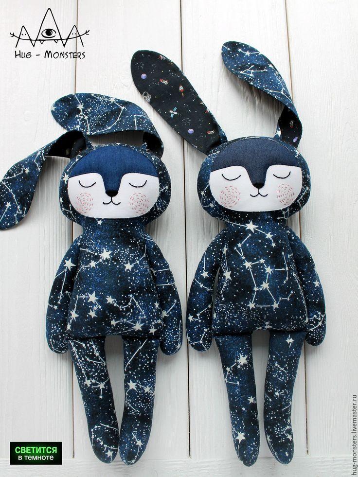 Absolutely cosmic bunnies | Купить Игрушка сплюшка зайка для младенцев и детей до 7 лет - комбинированный, синий, звезда, созвездие