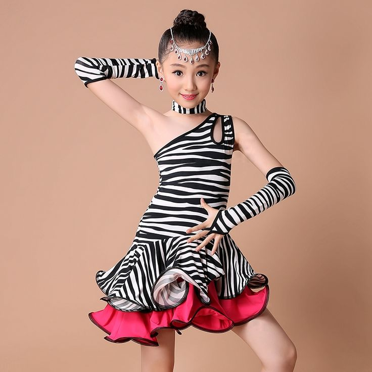 >> Click to Buy << Zebra Latin Dance Dress For Girls Samba Dress Ballroom Kids Zebra Dancing Dress Girl Dancewear Ballet Vestido Baile Latino Girls #Affiliate