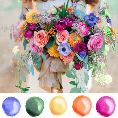 I just found THE perfect Wedding Color Palette for summer. The bright pink caught my eye! Paired with periwinkle purple, coral, blue green and gold yellow this wedding color palette is perfect for a Spring or Summer wedding! So fresh, fun and beautiful. While browsing Pinterest I stumbled upon the brilliant photography by Kelsie at …