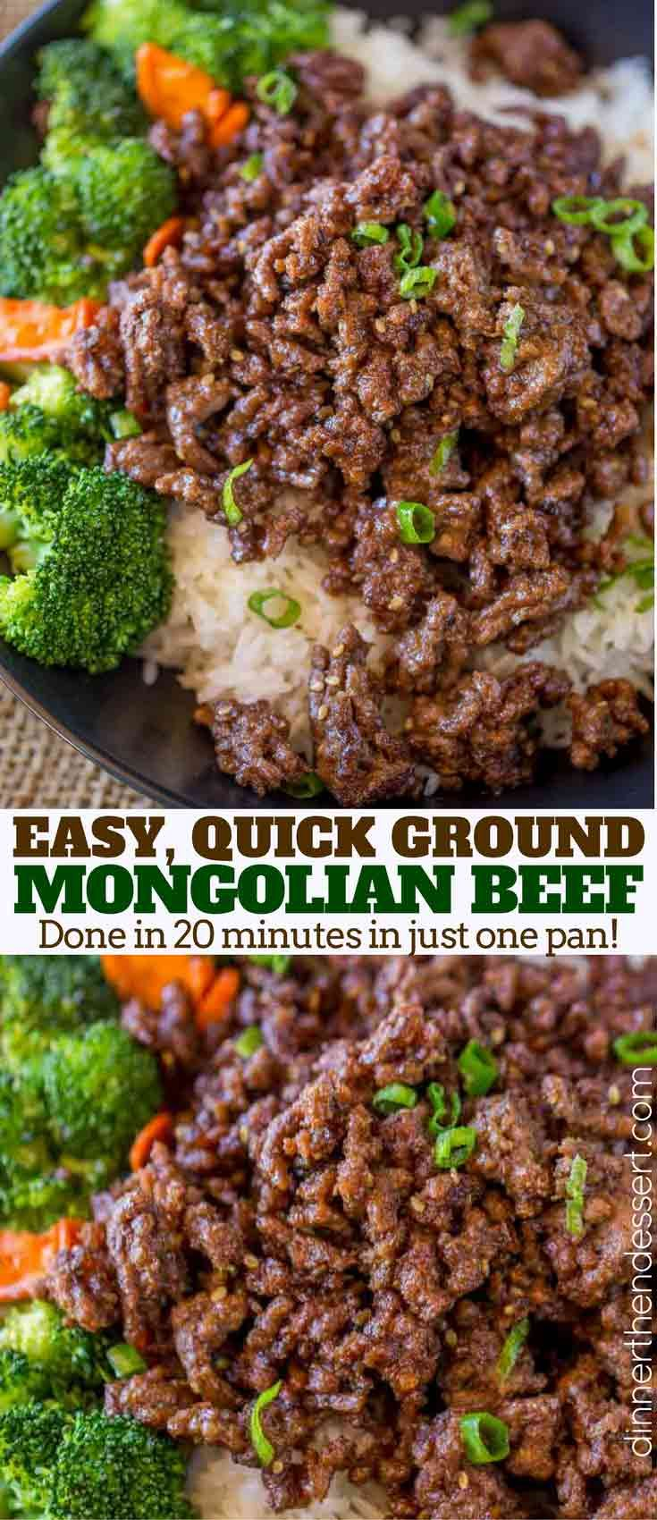 Ground Mongolian Beef with a sweet and spicy sauce that is crispy and tender without having to buy steak and it's done in 20 minutes.