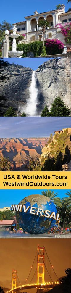 """This tour delivers a lot of bang for your buck. 8-Day San Francisco, Yosemite, West Grand Canyon (Skywalk) Tour, Solvang, """"Build your own Tour"""" with many optional addons such as Hearst Castle, Cirque du Soleil Vegas show, Monterey Bay Aquarium, Grand Canyon Helicopter Tour, Colorado River Boat Cruise plus choose TWO Theme Park Options. Departs Las Vegas ends Los Angelos. USA Tour Package."""
