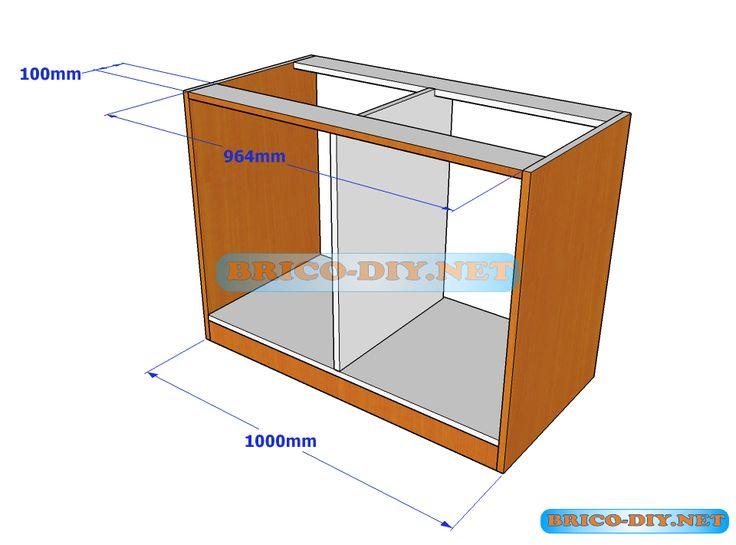 Plano y medidas de c mo hacer una comoda de melamina con for Software de diseno de muebles de melamina