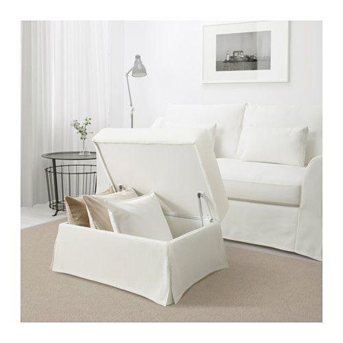 F 196 Rl 214 V Footstool With Storage Flodafors Beige Ikea
