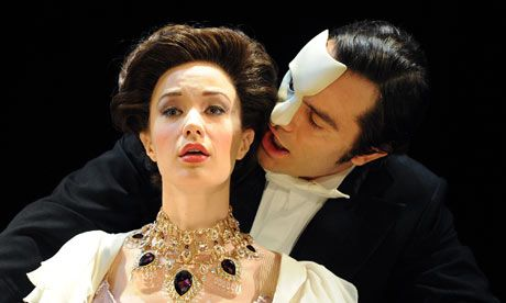 Ramin Karimloo and Sierra Boggess in Love Never Dies. London necklace! Gold doesn't really suit me though.