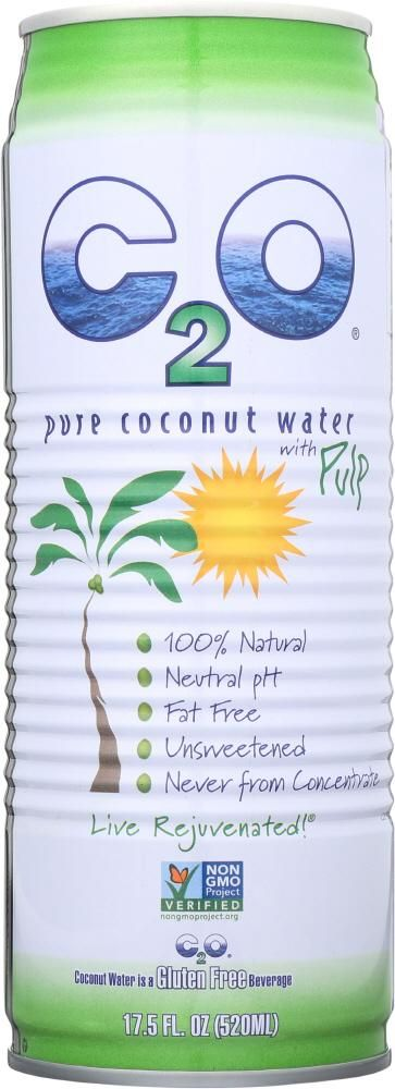C2O: Pure Coconut Water With Pulp, 100%, 17.5 Oz