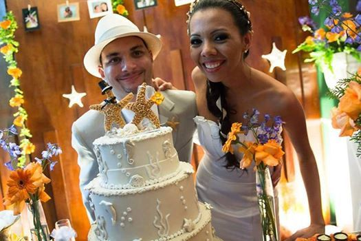 Coastal Wedding Decoration Sugar Starfish by seashellsbyseashore