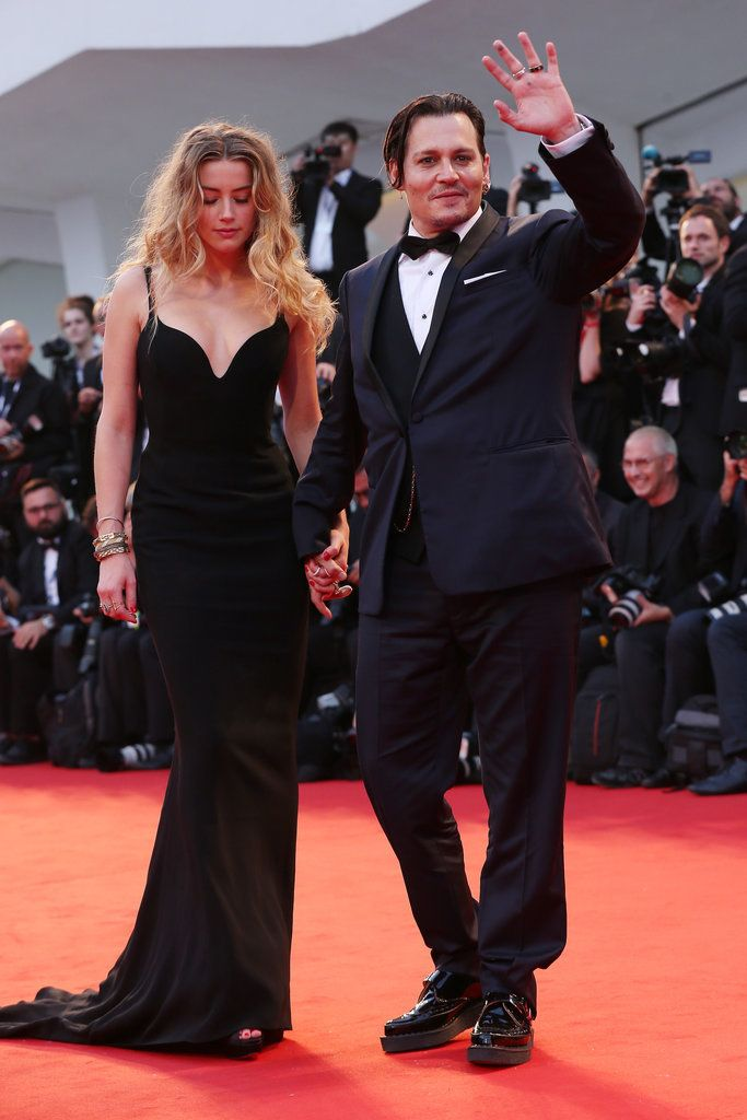 Johnny Depp and Amber Heard at the Venice Film Festival 2015