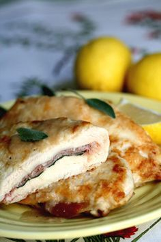 Chicken Saltimbocca - Skinny Chef. Yes please!