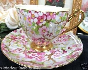 Shelley Tea cup and Saucer Maytime Chintz Pattern by jeanette