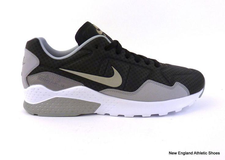 Nike men's Zoom Pegasus 92 casual shoes sneakers Black Metallic Silver Grey