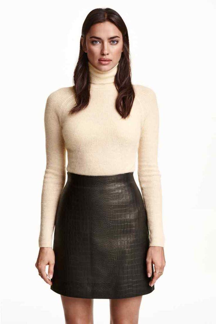 Skórzana spódnica | H&M