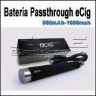 Batería Passthrough para cigarrillo electronico ego T 900 y 1000mAh. Batería Passthrough eCig 900 y 1000mAh Gran producto este batería passthrough EGO, puesdes usarla mistras esta cargando. No tiene nada que envidiar a las Joyetech.  Validad para todos los atomizadores / claromizadores con rosca 510. (del ego tank, ego-c, Claromizadores CE4, CE5, etc.)