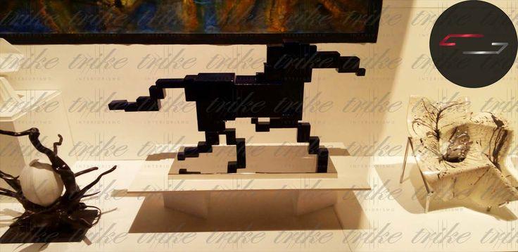 scultura Caballo Cúbico   El tema de esta seria de esculturas representa que los seres vivos están edificados en diferentes elementos , representados por cubos , todas las caras son congruentes dispuestas de forma paralela simbolizando alegrías , temores  , vivencias , asiendo a cada ser único.  Escultor : Cecilio Ali  Pregunta por las diferentes medidas y precios..  trike@trikeinteriorismo.com www.trikeinteriorismo.com 7775163681 7771328941(whatsapp)
