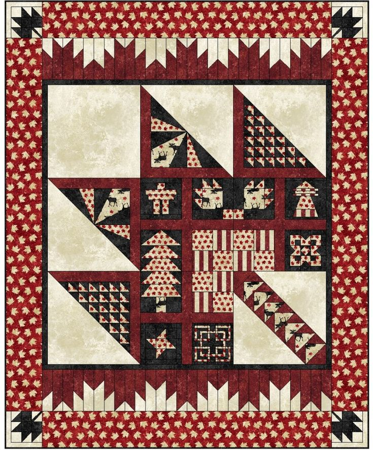 Your registration fee includes the coloured fabrics to make the blocks in the maple leaf and all printed patterns as well as the monthly meetings. Description from quiltsbyjen.ca. I searched for this on bing.com/images