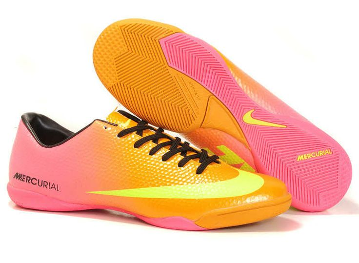Nike Mercurial Vapor 9 IC Indoor Boots - Pink Orange Yellow Black World Cup Soccer  Cleats