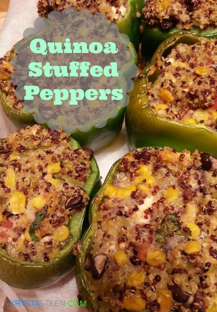 Healthy Recipes: Quinoa Stuffed Peppers #quinoa #recipes