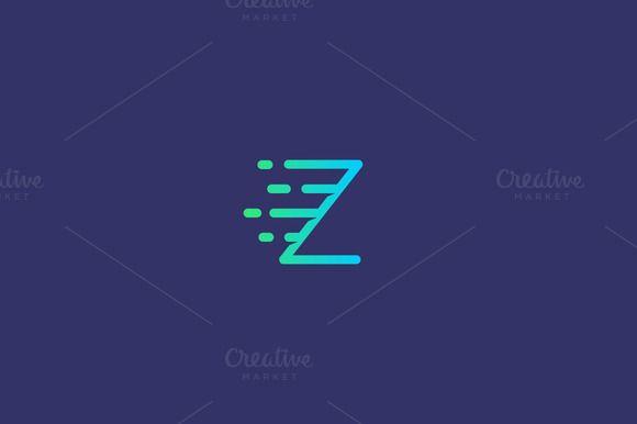 Dynamic moving letter Z logo. by iamguru on creativework247