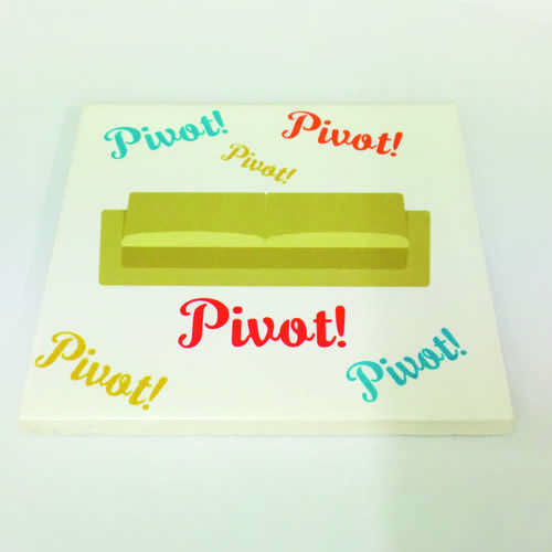 """White Ceramic Tile Coaster, perfect for any fan of the hit TV show Friends – Featuring Quote """"Pivot, Pivot, Pivot!"""" as said by Ross.  Printed at Uveeka's HQ Full colour high quality printing Scratch Resistant, Shower Proof Size – 100 x 100mm High Quality Ceramic Used Gloss Finish"""