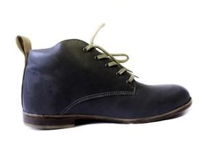 100% handmade leather men's shoes Mid top - Galaxy Grey colour  SIXKINGS Viking range