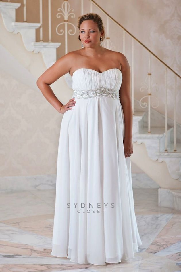 Top 10 Plus Size Wedding Dress Designers By Pretty Pear Bride #plussize #bride | Gown by Sydney's Closet