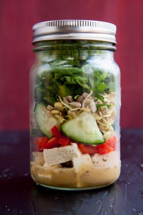 living salad in a jar
