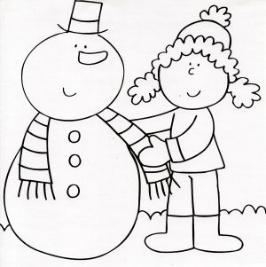 Om de zăpadă cu fular