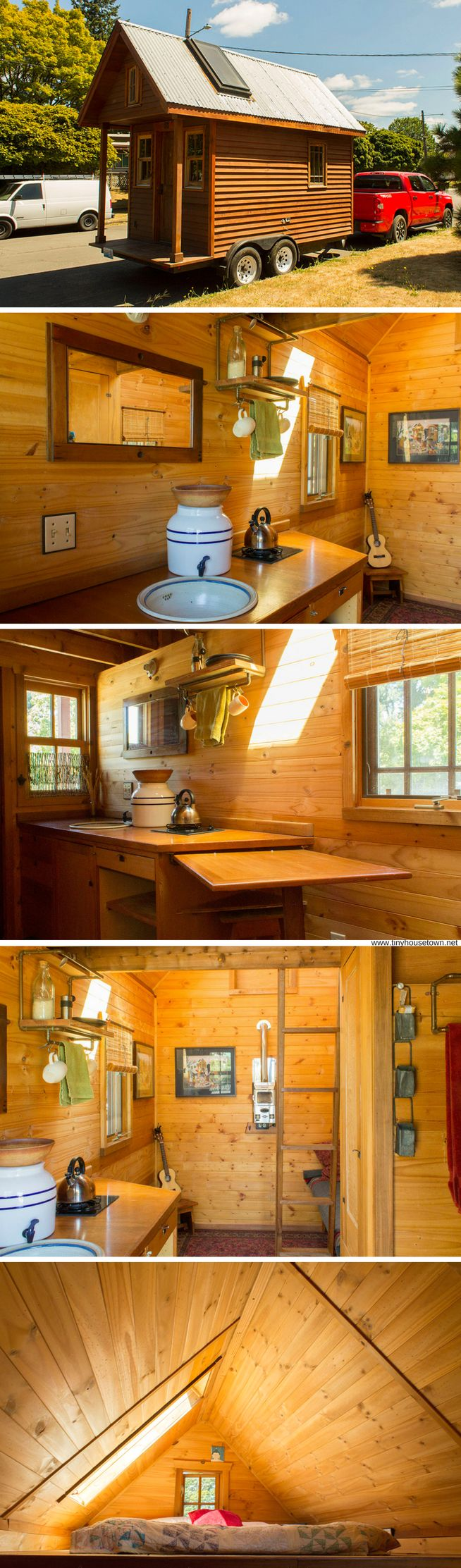 The Kozy Kabin: an 84 sq ft tiny house with no running water and minimal solar power