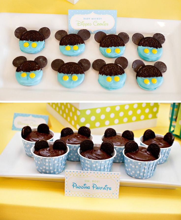 Mickey Mouse Food Tents from HWTM via Mandy's Party Printables