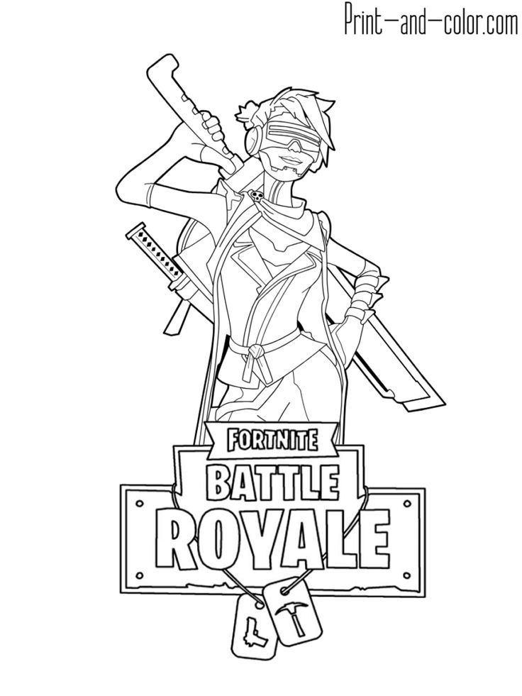 Fortnite Battle Royale Coloring Page Ninja Female Skin