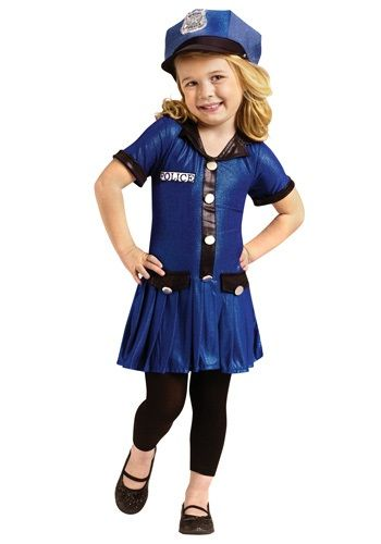 toddler girls police costume - Girls Cop Halloween Costume