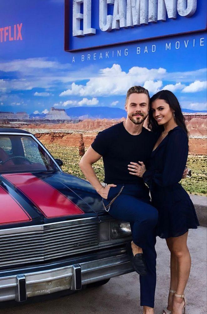 Derek Hough with his girlfriend Hayley Erbert Derek