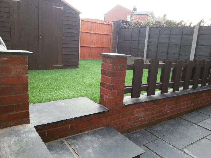 Finished child friendly play safe garden conversion project